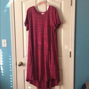 Pink heathered Carly Lularoe dress XL